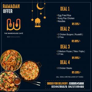 Warehouse cafe iftar deal 2020 - warehouse cafe in lahore 1