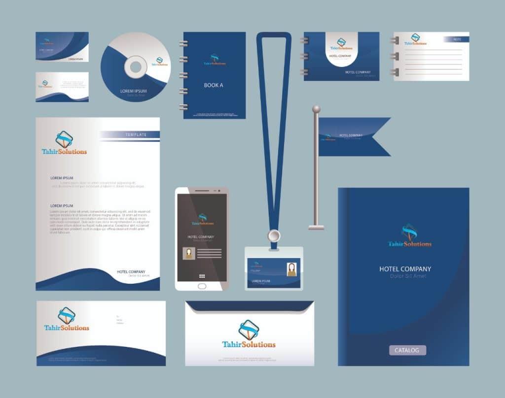 modern corporate branding - achievement award design - certificate design - professional visiting card design - bookamark design